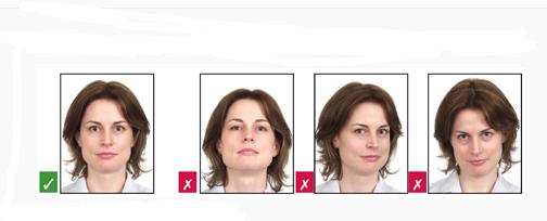 加拿大签证照片正确与错误提示